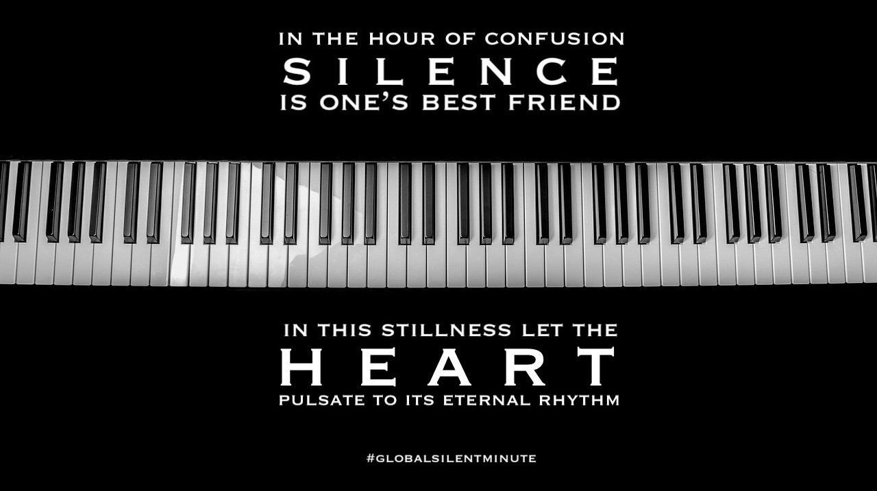 4.In the hour of confusion Silence is one's best friend