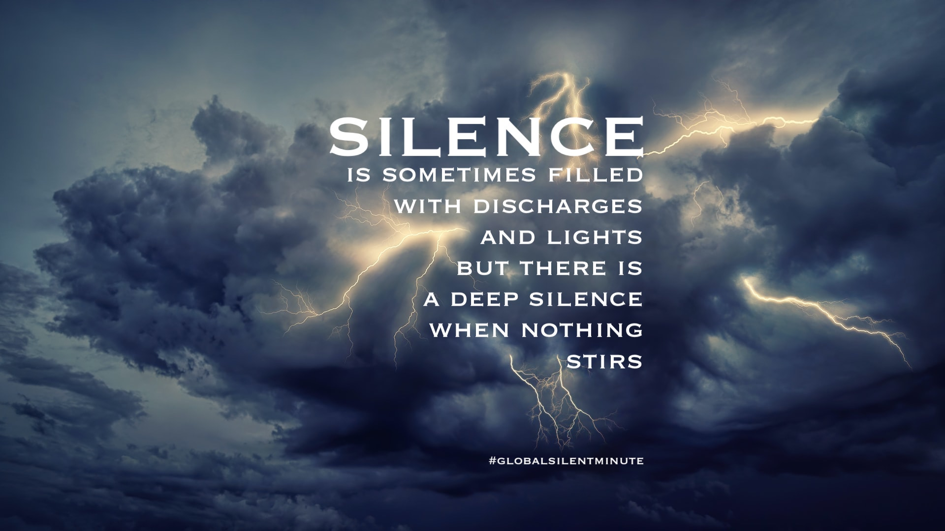 10.Silence is sometimes filled with discharges